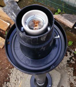 porta lampada lampione da giardino