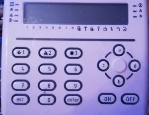 tastiera a schermo LCD
